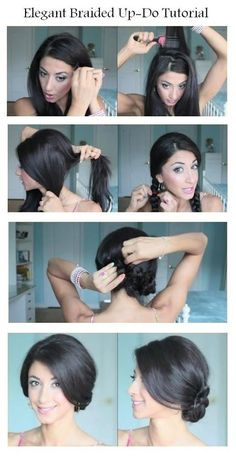 Elegant Braided Updo Hairstyle Tutorial