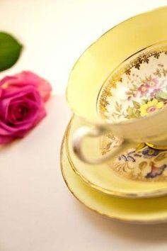 Yellow tea set ✿⊱╮