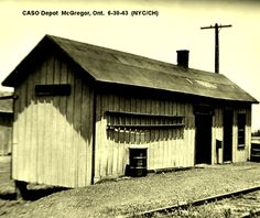 McGregor, Ontario - New York Central RR depot p 1943