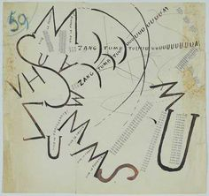 Filippo Marinetti Vive la France, Letterpress Museum of Modern Art, New York Modern Graphic Design, Graphic Design Illustration, Graphic Designers, Futurism Art, Kurt Schwitters, Fluxus, Design Graphique, Italian Artist, Illustrations