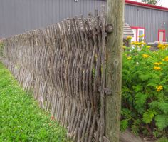 Wattle fence at the Ukrainian Museum, in Sandy Lake, Manitoba