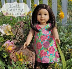 Kate Wrap Around Doll Dress Sewing Pattern and Tutorial. $4.00, via Etsy.