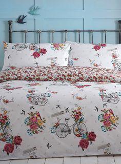 Bird on a bike bedding set - patterned - bedding sets - Bed Linen - Home, Lighting & Furniture - BHS £44