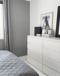 Bedroom ideas ikea malm drawers Ideas – second room – malm White Bedroom Furniture Ikea, Bedroom Decor On A Budget, Gray Bedroom, Home Bedroom, Bedroom Ideas, Bedrooms, Master Bedroom, Ikea Malm Drawers, Bedroom Drawers