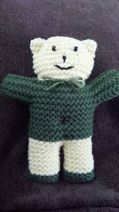 Dishcloth Patterns Knitting Beginners : Free Knitting pattern. Easy Teddy Bear knitting pattern from Bevs Countr...