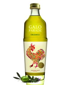 Galo Parade, By Thiago Calza.  Love this. Great rooster Olive oil packaging