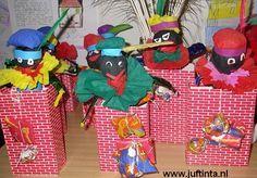 #knutselen met kinderen tijdens #sinterklaas #DIY Zwarte Piet uit de schoorsteen