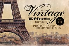 Vintage Effects for Photo, Designs 3 by cruzinedesign on Creative Market