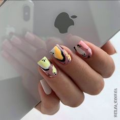 Lovely Summer Beach Nail Art Designs for you in 2019 : You must take a look! – Page 3 – Cocopipi art summer beach Beach Nail Art, Beach Nail Designs, Square Nail Designs, Short Nail Designs, Acrylic Nail Designs, Nail Art Designs, Nails Design, Matte Nails, Gel Nails