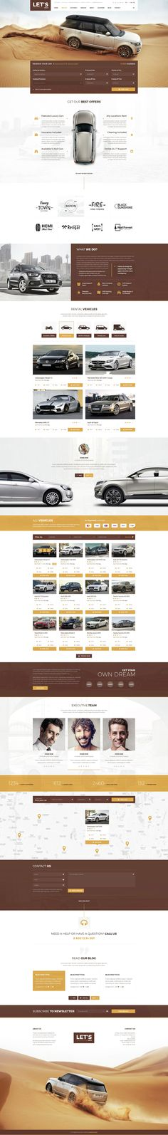 Let's Drive - Amazing Car Rental & Sale PSD Template - PSD Templates