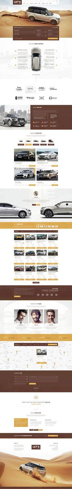 Let's Drive - Amazing Car Rental & Sale PSD Template - PSD Templates