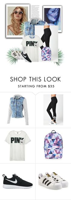 """""""Everyday Outfit"""" by jinxallison on Polyvore featuring Mur Mur, adidas, Victoria's Secret, Accessorize, NIKE, adidas Originals and Agave"""