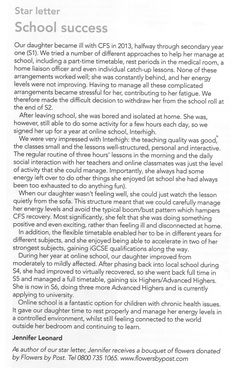 A success story with online education (@InterHighEd) for young person with #ChronicFatigueSyndrome (from @actionforme magazine) Access to such facilities should be more widely available, though other options should of course also be available #MEcfs #CFS #MyalgicE #SpecialEd