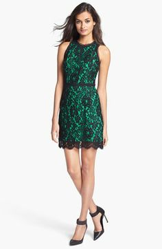Milly Sleeveless Lace Dress available at #Nordstrom Like everything but the green.... maybe a different color would be better