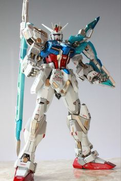 MG 1/100 GAT-X105+AQM/E-X02 Sword Strike Gundam Custom: Photo Review http://www.gunjap.net/site/?p=270964