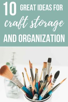 36 Ideas For Organizing Craft Supplies - Making Manzanita - There's no excuse to keep your craft room messy and unorganized with all of these great craft sto - Craft Room Decor, Craft Room Storage, Diy Storage, Storage Ideas, Creative Storage, Bedroom Storage, Creative Crafts, Storage Solutions, Decor Crafts