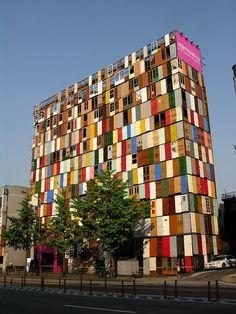 Building facade with 1000 Doors