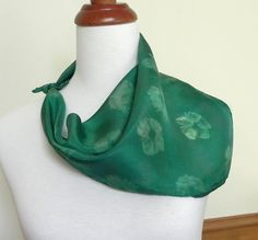 Square Floral Silk Scarf Hand Painted Shades of by RosyDaysScarves, $25.95