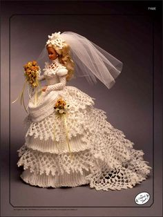 Barbie Crochet: Centennial Bride 1993, $3.95 on e-PatternsCentral