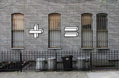 certain practitioners have an effortless ability to create fun, funny and fabulous interventions and the brilliant Aakash Nihalani is certainly one of the best. His newest work Sum Times is a series of street art pieces which eschews questions of geopolitics or corporate greed in favour of pure silliness giving us the opportunity to reassess the mathematics apparently present in our everyday surroundings.