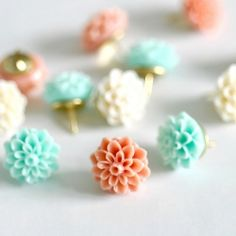 """easy to make thumb tacks - display on board with banners and letters spelling, """"Fun,"""" and """"Love."""""""