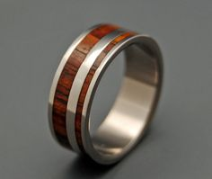 Yes Kez Sirumem  Wooden Wedding Rings by MinterandRichterDes, $250.00