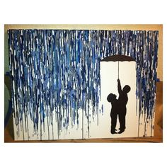 Custom Melted Crayon Art with Your Silhouette found on Polyvore