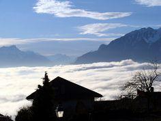 Mer de brouillard sur le lac Léman Geneva, Switzerland, Mount Everest, Photos, Album, Mountains, Nature, Travel, Lake Geneva