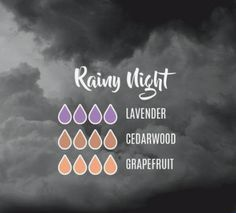 Make your own Rainy Night Diffusion Blend! Calming Essential Oils, Essential Oil Spray, Essential Oil Scents, Essential Oil Diffuser Blends, Young Living Essential Oils, Ant Spray, Rainy Night, Diffuser Recipes, Young Living Oils