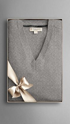 Burberry V-Neck Cashmere Sweater.... To die for