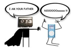 Funny photos funny cassette iPod Im your father Obi Wan, Geeks, The Awful Truth, Thursday Humor, Throwback Thursday, Tech Humor, Geek Humour, Technology Humor, Haha Funny