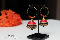 Quillspiration - 26 Pairs of Awesome Paper Quilled Jhumka Earrings - Honey's Quilling