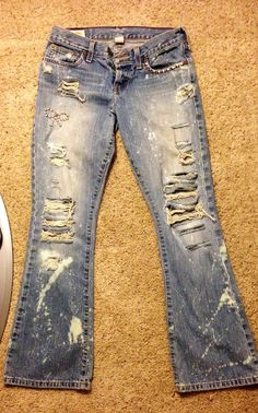 Destroyed/Distressed Studded Jeans