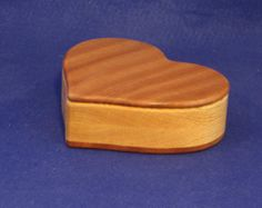 Valentines Day Heart Shaped Bandsaw Box For Small Jewelry Items Such As Earrings Or Other Small Items.