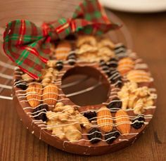 guirlanda de chocolate de Carole Crema, make de natal