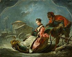 El invierno por Boucher. S. XVIII