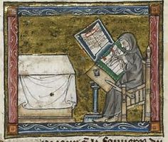 Image result for Medieval Monk with Manuscripts
