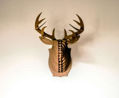 Reycled Taxidermy Lighting - Philou Le Caribou Uses Cardboard as a Means to Illuminate Rooms (GALLERY)