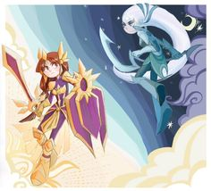 Diana and Leona by inkinesss on DeviantArt: Leona League Of Legends, League Of Legends Characters, Fictional Characters, Game Character, Character Design, Character Outfits, Vedic Astrology, Diana, Chibi