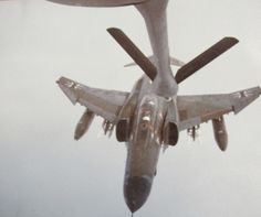 """Staff Sgt. Mike Raymond of Port Charlotte flies the gas boom of a 707 jet tanker as he refueled a German F-4 """"Phantom"""" fighter. He was a member of 310 Air Refueling Squadron during the """"Cold War"""" of the 1980s. Photo provided"""