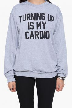Turnt Up Graphic Sweatshirt in Heather grey | Necessary Clothing