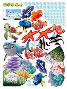 Finding Nemo Wall Decal madebyLuv http://www.amazon.com/dp/B00D3E72ME/ref=cm_sw_r_pi_dp_LLZWtb0HJ32965CF