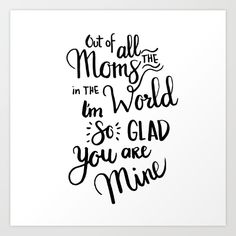 Cute mother's day gift!! #mom #gift #artprint
