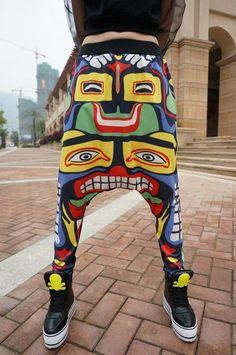 74e1900e8d8a Cool Harajuku Sweatpants Hip Hop Joggers Baggy Drop Crotch Women Man Harem  Pants