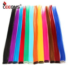 Cheap Synthetic Clip-in One Piece, Buy Directly from China Suppliers:Leeons Clip-In One Piece For Ombre Hair Extensions Pure Color Straight Long Synthetic Hair Fake Hair Pieces Clip In 2 Tone Hair 2 Tone Hair, Glow In Dark Party, Disney Princess Dress Up, Ombre Hair Extensions, Color Spray, Kids Makeup, Baby Shower Decorations For Boys, Professional Hairstyles, Synthetic Hair