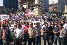 Taxistas de la CdMx protestan contra Uber en el Ángel - Milenio.com