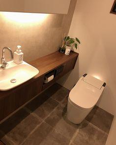 Wc Design, Toilet Design, House Design, Japanese Modern, Japanese House, Small Bathroom, Master Bathroom, Modern Toilet, Guest Toilet