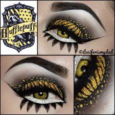 Hufflepuff Makeup. Harry Potter Inspired Makeup.