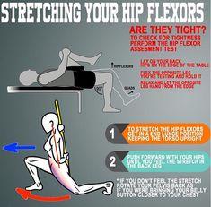 Hip flexor Massage Psoas Stretch - Weak Hip flexor Videos - - Hip flexor Stretch At Work - - Hip Flexor Exercises, Hip Stretches, Stretching, Hip Workout, Gym Workouts, Workout Routines, Psoas Stretch, Tight Hip Flexors, Psoas Muscle