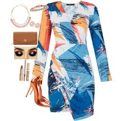 A fashion look from September 2015 featuring BCBGMAXAZRIA dresses, Gianvito Rossi pumps and Tory Burch wallets. Browse and shop related looks.